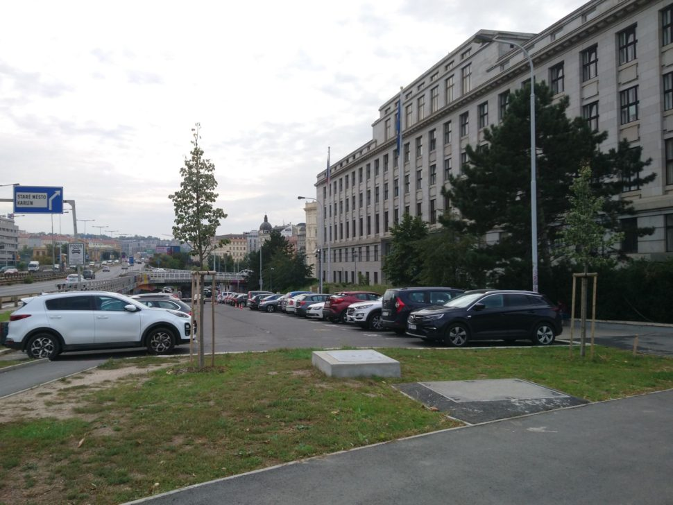 Parkování ulice Těšnov